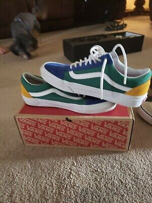 PRE VANS OLD Skool Yacht Club Yellow Blue Green and Red