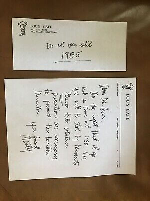 Back to the Future Replica Movie Prop Marty McFly Letter to Doc Brown BTTF