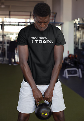 MENS GYM TRAINING MOTIVATION T-Shirt MMA BODYBUILDING WORKOUT CLOTHING TOP BEAST