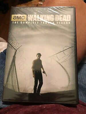 The Walking Dead: Season 4 (DVD, 2014, 5-Disc Set) New Sealed Free Shipping