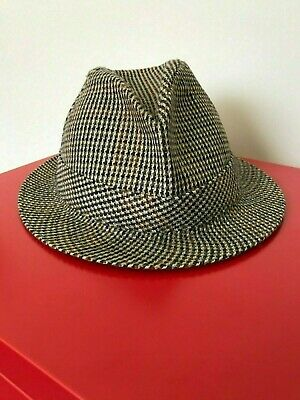 Vintage_AUTOHAT Townsman_Tweed Mens Hat_Fedora_size 59 ready for Race Season