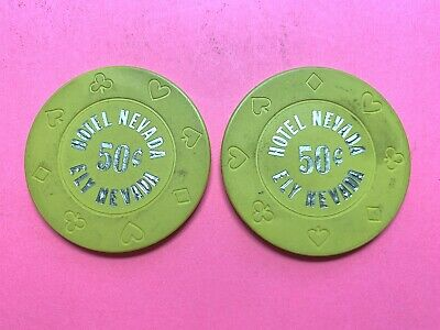 HOTEL NEVADA  ELY, NV  TWO (2)  .50 casino chips