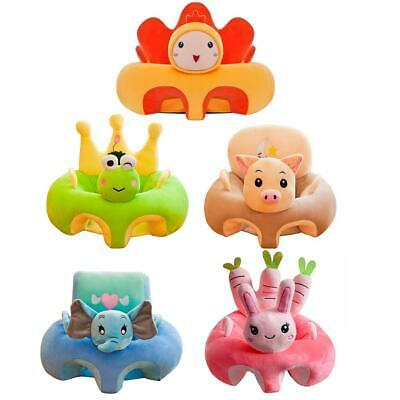 Kids Baby Support Seat Sit Up Soft Chair Cushion Sofa Plush Pillow Feeding Cover