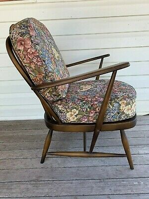 Retro Vintage Mid Century Ercol 'Windsor' Lounge / Occassional Chair