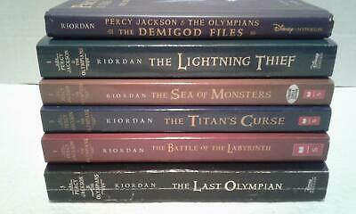 Complete #1-5 PERCY JACKSON & THE OLYMPIANS Series P/B Book Lot+DEMIGOD FILES