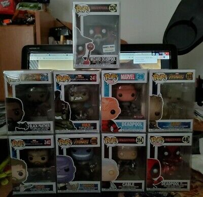 Funko Pop! Various Marvel Pops Deadpool Thor Iron-Man Hulk Star-Lord Groot more