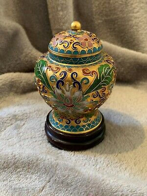 Small cloisonne Lidded Pot