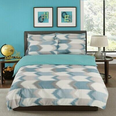 Blue Checked Doona/Quilt Cover Set Queen/King/Double/Single Size Duvet Bed Cover
