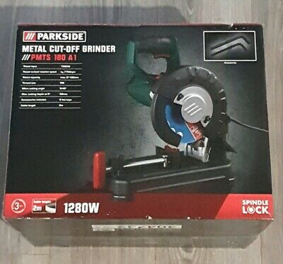 Parkside Tools Metal Cut-Off Grinder PMTS 180 A1 1280w 7700rpm speed 0-45⁰ Angle
