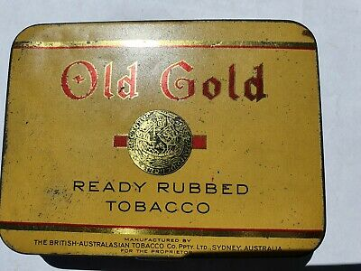 OLD GOLD Ready Rubbed Tobacco tin by B.A.T. Sydney