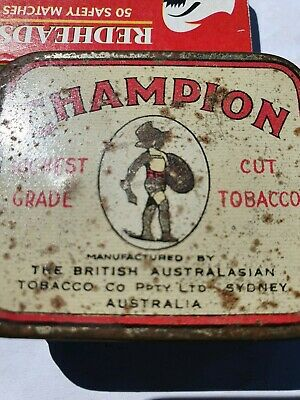 """""""Limited Issue"""" tiny CHAMPION Highest Grade Cut Tobacco tin by B.A.T. Sydney"""