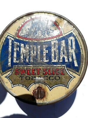 Round TEMPLE BAR Sweet Slice Navy Cut Tobacco tin by B.A.T. Melbourne