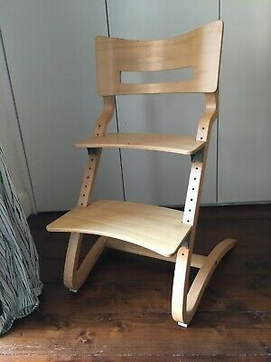 Leander High Chair Adjustable Natural Wood Finish