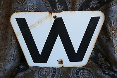 Collectable Antique Railway Whistle Sign - Enamel