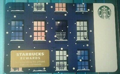 Starbucks Hanukkah Gift Card, 2019 Holiday Collectible, Mint, Lights in Window