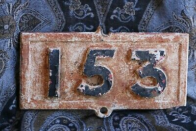 Antique/Collectable Railway Cast Iron Mile Sign 153