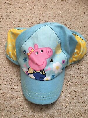 BNWT Girls Peppa Pig Cap With Neck Protector Aged 1-3 Years From George Asda