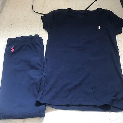 Polo Ralph Lauren age 8-10 Top And 7 Leggings