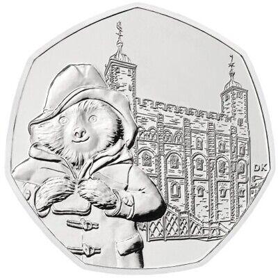 2019 Royal Mint Paddington Bear at the Tower Fifty Pence 50p Coin Uncirculated