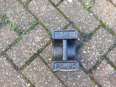 Vintage cast iron 14lb weight / door stop