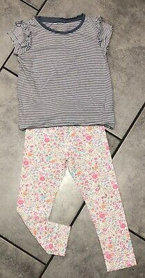 Next Girls Outfit 4-5 Y Striped & Floral
