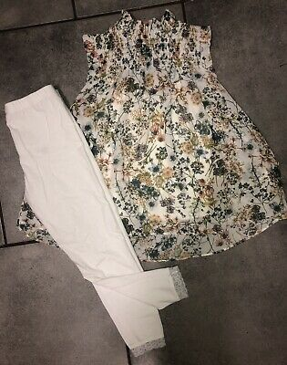 Next...george Girls Floral Outfit 6-7 Y Vgc