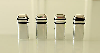 4x Irmscher Aluminium door pins chrome Vauxhall - polished chrome or brushed