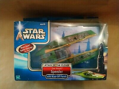 Star Wars Aotc Zam Wesell Speeder  2002 Hasbro New