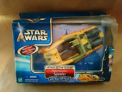 Star Wars Aotc Anakin Skywalker Speeder  2002 Hasbro New