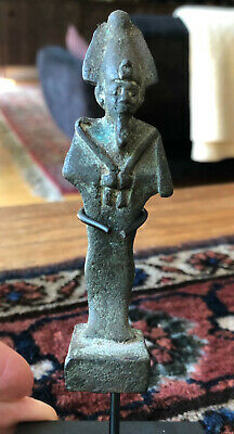 Egyptian Bronze Statuette of Osiris 664-323 BC RARE Historical Ancient Artifact!