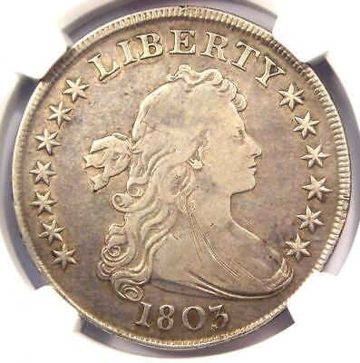 1803 Draped Bust Silver Dollar $1 - Certified NGC VF Details - Rare Coin!