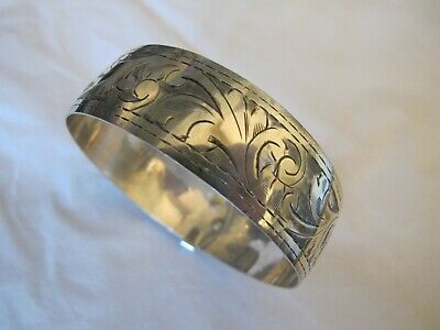 Vintage Solid Silver Buckle Bracelet, Chester 1947 Joseph Smith & Sons 22 g