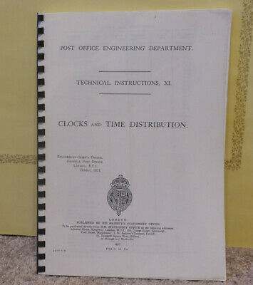 Post Office master clocks & accessories technical instruction manual