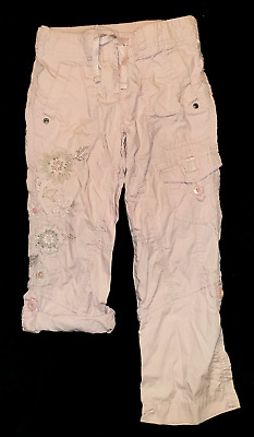 NEXT Girls Embroidery Flowery 3/4 Length Trousers, 6 years