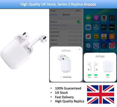 Apple Airpods 2nd Generation with wireless charging case - 2nd Gen 1:1 Replica