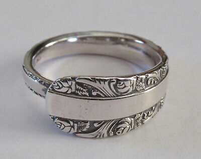 Sterling Silver Spoon Ring - Birks / Rose Bower - size 8 1/2 - 1914