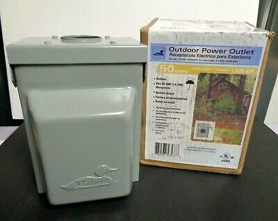 Midwest Outdoor Power Outlet * Factory Wired /Assembled U054P ~Grey
