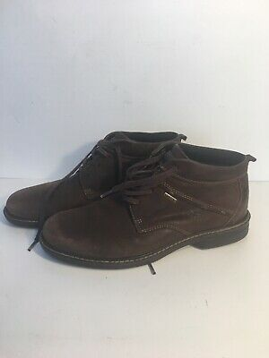 ECCO | Turn GTX Gore-tex Brown Leather Ankle Chukka Boots | Men's 43/9-9.5 GUC