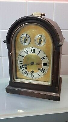 German Westminster chime Bracket Clock for restore no pendulum