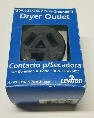 Leviton Outlet Receptacle 30A 125V 250V NEMA 10-30R 3Pole 3Wire Dryer No Ground