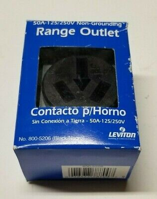Leviton Outlet Receptacle 50A 125V 250V NEMA 10-50R 3Pole 3Wire Range No Ground