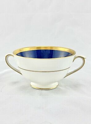 Coalport ATHLONE-BLUE Cream Soup Fine China Made In England 1210767