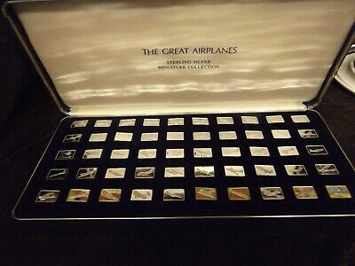 Franklin Mint 1978 The Great Airplanes Sterling .925 Silver Miniature Bars 50pcs