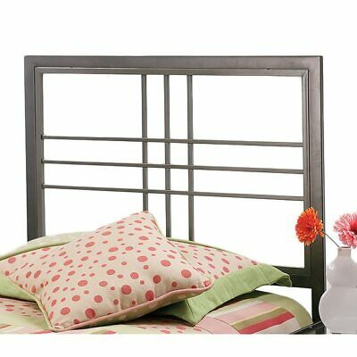 Pewter Gray Grey Metal Square Headboard Twin Full Queen King Bed Frame Mounted