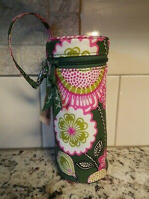 """New"" VERA BRADLEY Baby Bottle Caddy Carrier Olivia Pink & Green"