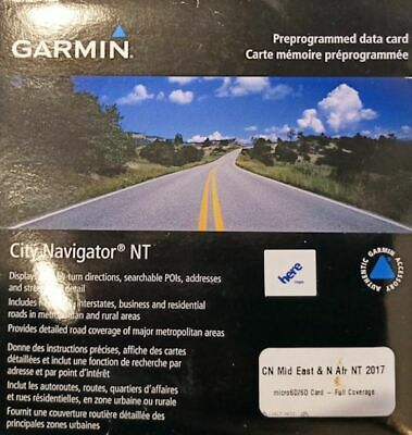 Garmin GPS maps for Middle East & North Africa