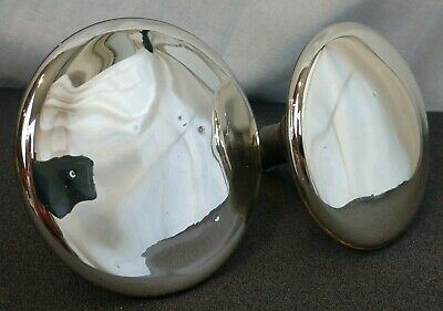 2 Large Antique Victorian Mercury Glass Curtain Drapery Tie Backs Matched Pair