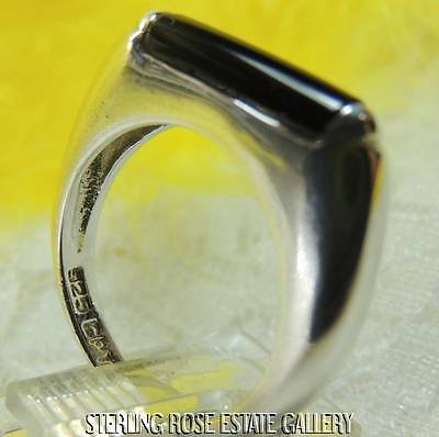 ONYX STERLING SILVER 925 ESTATE BAND RING size 6