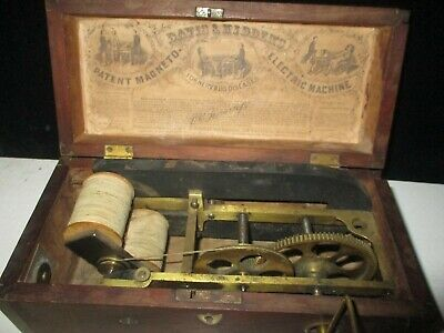 Early Davis And Kidders Quack Medicine Crank Electrical Box
