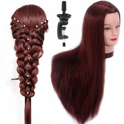 Hairdressing Training Heads Synthetic Fibre Hair Mannequin Styling Dolls Head